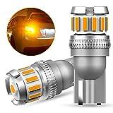 OXILAM T10 LED アンバー サイドウインカー 高輝度 爆光 CANBUSキャンセラー内蔵 イエロー ルームランプ ポジションランプ カーテシーランプ トランクランプ 無極性 DC9-18V 車用 車検対応 1年保証 2個入