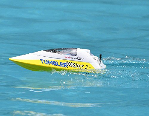 2.4Ghz Radio Control High Speed Pool Racer Tumbler Speed Boat ABS Unibody RC RTR (Color May Vary)