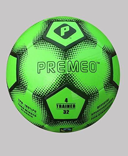 PREMEO Super Seasonal Wrap Introduction sale period limited Training Soccer Ball TPU 4 Machine Stithed Green Size