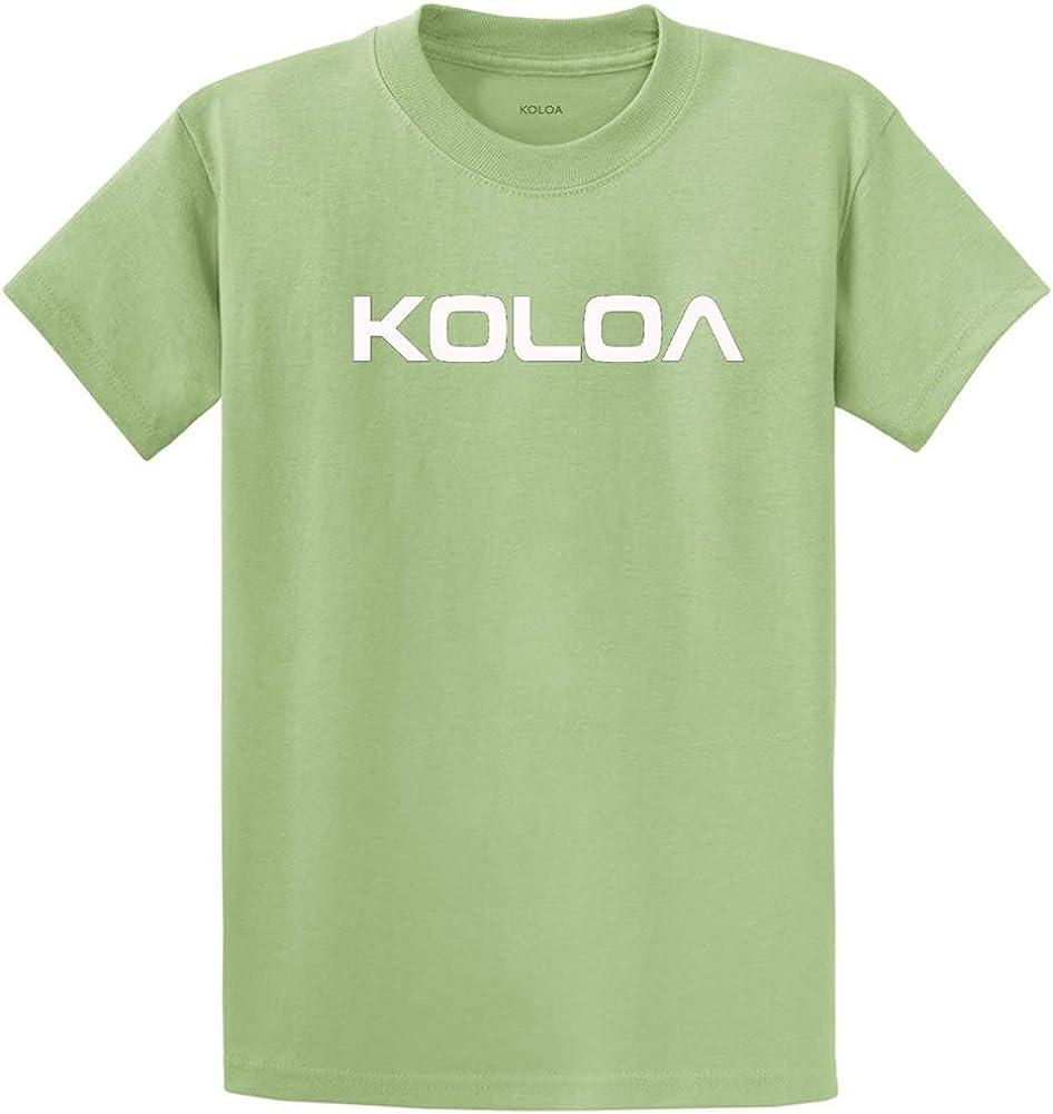 Joe's USA Koloa Surf(tm) Text Logo Cotton T-Shirts in Size Large Tall - LT Pistachio