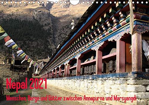 Nepal 2021 Menschen, Berge und Götter zwischen Annapurna und Marsyangdi (Wandkalender 2021 DIN A4 quer)