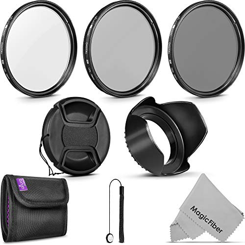 58MM Altura Photo UV CPL ND4 Lens Filter Kit and Accessory Set for Canon Rebel T5i T6i T7 T7i T8i EOS 80D 90D