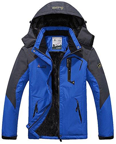MAGCOMSEN Men's Waterproof Fleece Mountain Jacket