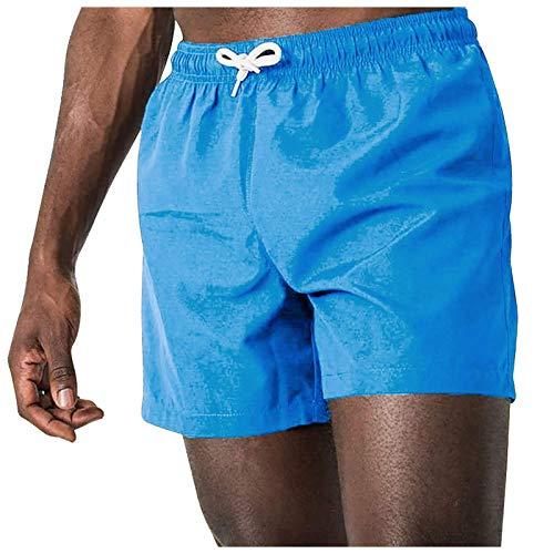 Pas Cher Shorts Sport Hommes été,Maillot de Bain Homme Grande Taille Fitness Bodybuilding Mode Pantalons Courts Décontractés Taille Élastique Bouffant Legging Pants Casual pour Fitness Jogging Gym