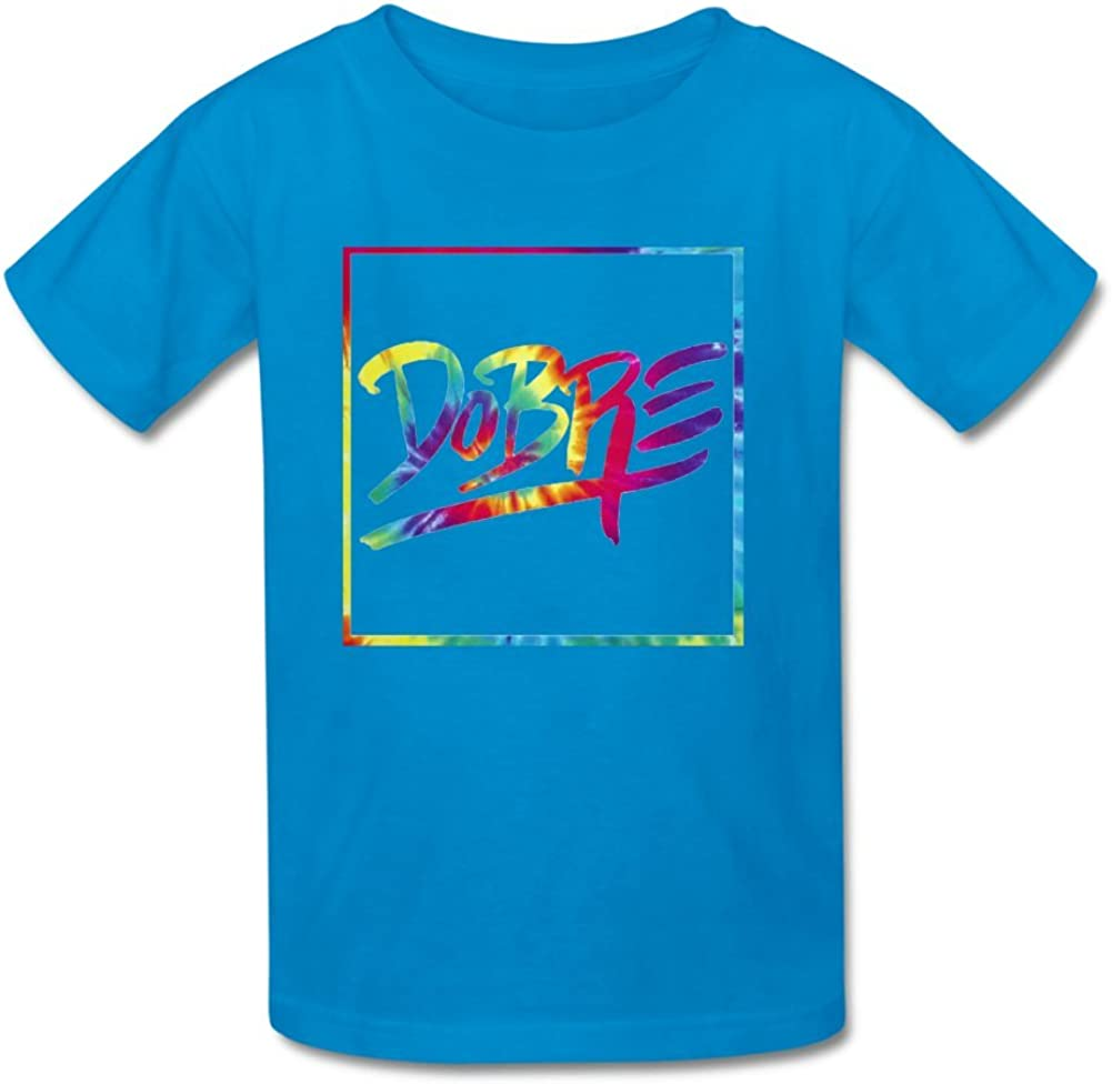 Little Boys Girls Kids Tie Dye Dobre Brothers Cotton T-Shirt for 6-10yr Old