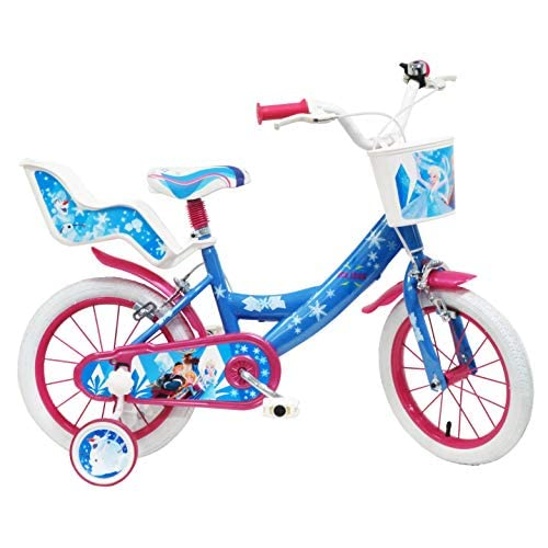 Disney Frozen Ice Look, Bicicletta Bambina, Blu-Bianco-Fucsia, 14