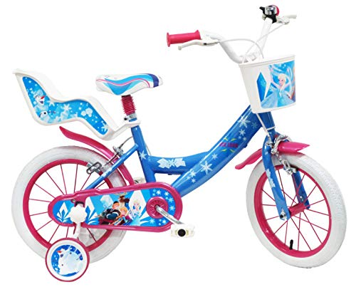 Disney Frozen Ice Look, Bicicletta Bambina, Blu-Bianco-Fucsia, 14'