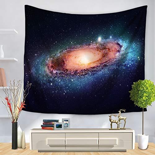 KHKJ Mandala Starry Sky Tapiz para Colgar en la Pared Macrame Bohemio Arte de la Pared Manta Decoración para el hogar Sábanas de Dormitorio Multicolor Estera de Yoga A22 200x150cm
