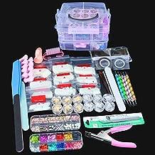 SPTHTHHPY Acrylic Nail Kit, Nail Art Set Acrylic Brush Glitter Clipper Dotting Pen File French Tips Nail Art Decoration Tools Professional Manicure Set