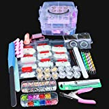 SPTHTHHPY - Juego de uñas acrílicas para decoración de uñas, set de manicura profesional