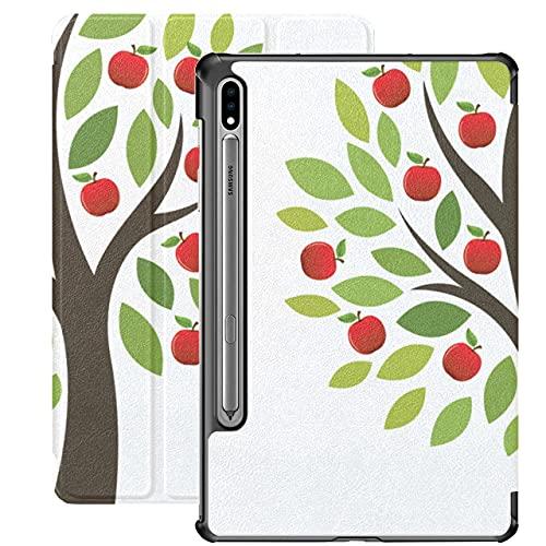 Apple Tree Grow Tree Carcasa de Dibujos Animados Samsung Galaxy S7 para Samsung Galaxy Tab S7 / s7 Plus Samsung Galaxy S7 Stand Carcasa Trasera Galaxy Tab S7 Plus Funda para Galaxy Tab S7 1