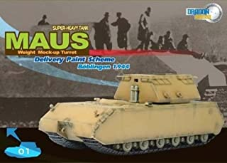 DRAGON ARMOR 1/72 Scale Prefinished Fully-Detailed Model, German WWII Sd.Kfz.205 Panzer VIII Maus Super Heavy Tank with Weight Mock-up Turret in Delivery Paint Scheme 60156