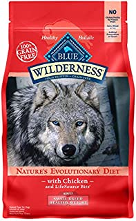 Blue Buffalo Wilderness High Protein Grain Free Natural Adult Small Breed Healthy Weight Dry Dog Food, Chicken 4.5-lb