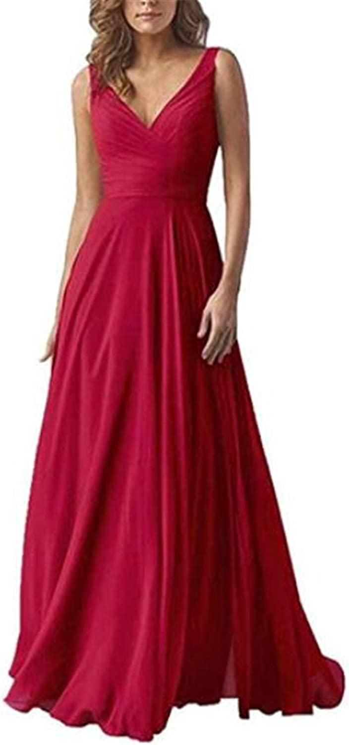 LIBODU A-Line Chiffion Bridesmaid Dress Formal Evening Party Dress Gowns for Wedding