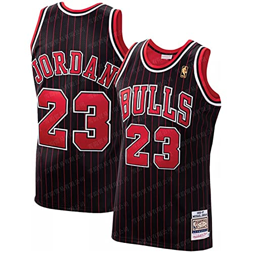WAZSS Bull 23 # Serie completa uniforme de baloncesto conjunto de hombres de malla Jersey sin mangas chaleco deportivo Top transpirable suelta Swingman Jersey 4-M