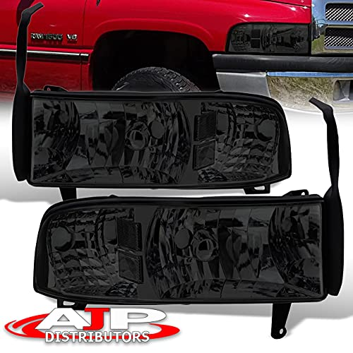 AJP Distributors Front Driving Headlights Headlamps Head Lights Lamps Assembly Pair Compatible/Replacement For Dodge Ram 1500 2500 3500 1994 1995 1996 1997 1998 1999 2000 2001 94 95 96 97 98 99 00 01