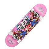 LJHBC Skateboard Patineta Infantil Patineta Doble de 31 Pulgadas Deportes al Aire Libre Adecuado for Principiantes Adultos. Arce de 7 Capas Carga 150 kg (Color : True Love)