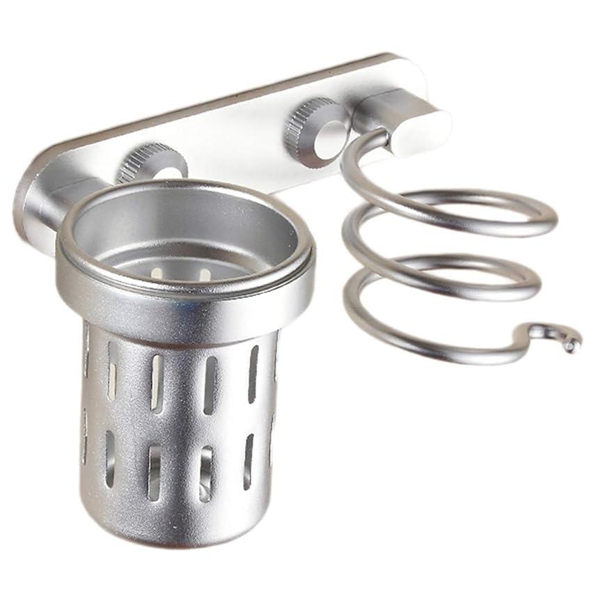騒ぎ却下するナチュラル浴室用ラック 浴室用シェルフヘアドライヤーラックスペースアルミパンチフリーのバスルームコームチューブ多機能 (Color : Silver, Size : 21*12cm)