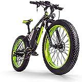 RDJM Bicicleta eléctrica 26-Pulgadas Fat Tire Bicicleta eléctrica / 1000W48V17.5AH batería de Litio de MTB, 27 Velocidad de Nieve Esquí de Bici/MTB for Hombres y Mujeres (Color...