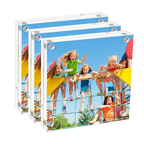 Onewall acryl fotolijst 4x6 inch magnetisch helder fotolijst vrij staand voor tafelblad bureaublad display