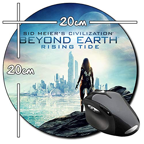 mächtig Earth Rising Tide Rund Mauspad Jenseits der Zivilisation Round PC Mouse Pad
