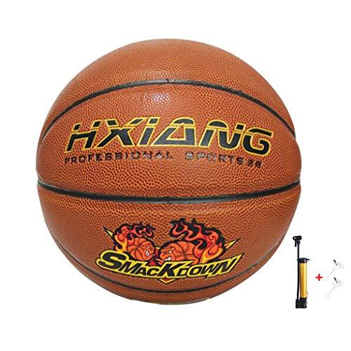 Buy Bargain YE ZI Basketballs- Standard Basketball Indoor Outdoor No. 7,with Pump (Color : Brown)