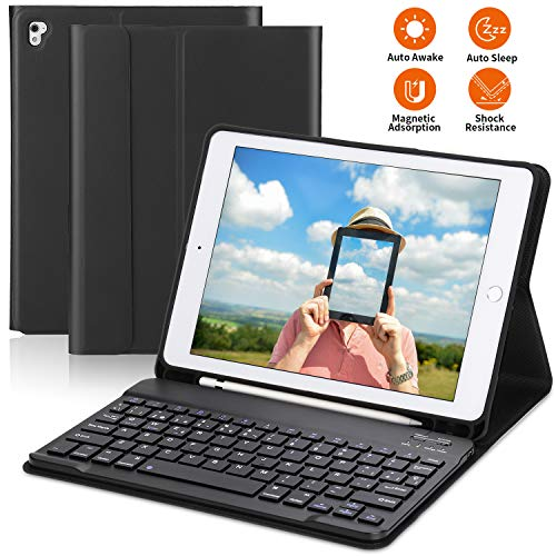 PEYOU Funda Teclado para iPad 9.7 2018, iPad Pro 9,7, iPad 2017, Teclado...