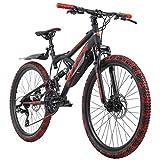 """Auf die Plätze, fertig, Action! Das 24"""" Kinderfahrrad BLISS PRO von KS Cycling ist ein robustes, vollgefedertes Mountainbike für die Kleinen, das dabei dem Look der Großen in nichts nachsteht. Besser noch: an jedem der grobstolligen Muddy Red-Reifen ..."""