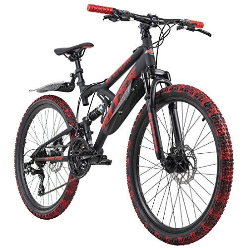 KS Cycling Mountainbike Fully 24\'\' Bliss schwarz-rot RH 38 cm