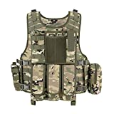 MGFLASHFORCE Tactical Airsoft Vest Adjustable Modular Paintball Vest (CP)