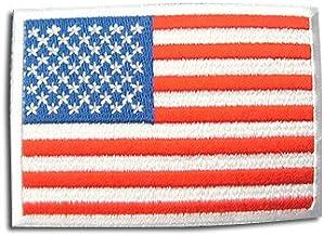 アメリカ 国旗 アイロン ワッペン (M 約80x55mm)