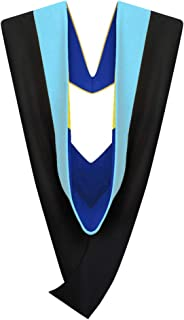Master's Graduation Hood LIGHT BLUE: Master of Education M.Ed. (Various College Colors)