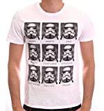 Star Wars Trooper Emotions Camiseta, Blanc, M/M para Hombre