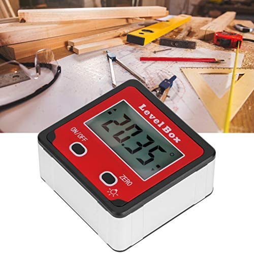 Inclinómetro digital, medidor de ángulo de nivel mini, transportador de calibre para arquitectura de carpintería rojo