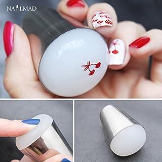 Generic 4cm Marshmallow Nail Art Stamper Squishy Jumbo Stamper Big Nail Art Stamper #Clear