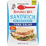 BUMBLE BEE Sandwich in Seconds Tuna Salad, 2.5 Ounce Pouches (Pack of 12), Tuna Salad Pouch Made with Light Tuna, High Protein Snacks, Tuna Fish, Ready to Eat Tuna Pouch, Keto Food