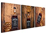 Gardenia Art - Whisky Wall Art Painting Canvas Pictures Abstract Prints for Kitchen Bedroom Bar Room Decoration, 12x16'' per piece, 3 Pieces per Set