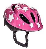 Sport Direct™ Pink Stars - Casco de bicicleta para niños (48-52 cm), color rosa