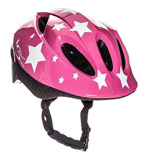 Sport Direct Pink Stars - Casco de bicicleta para niños (48-52 cm), color rosa
