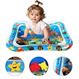 TOUARETAILS Baby Tummy Time Inflatable Water Play Mat Toys for Travel Fun Activity (Blue)