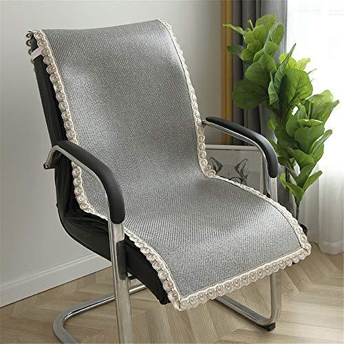 Cojín de Silla Cojines for sillas de interior Sillas de salón al aire libre con respaldo alto Silla del patio de amortiguador de los cojines del sofá Ligero y Saludable ( Color : Verde , Size : 50cm )