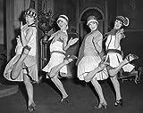 Flapper Girls, 20' x 15' - B&W Photo Art Print