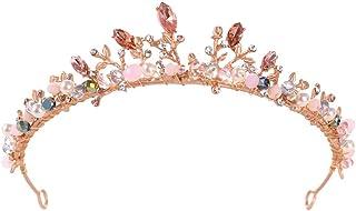 FELICILII Copricapo da Sposa con Corona di Cristallo Princess Birthday Show
