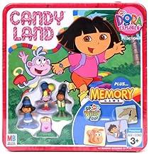 Candy Land Nick Jr. Dora the Explorer Collectors Tin Edition Plus Go Diego Go! Edition Memory Game