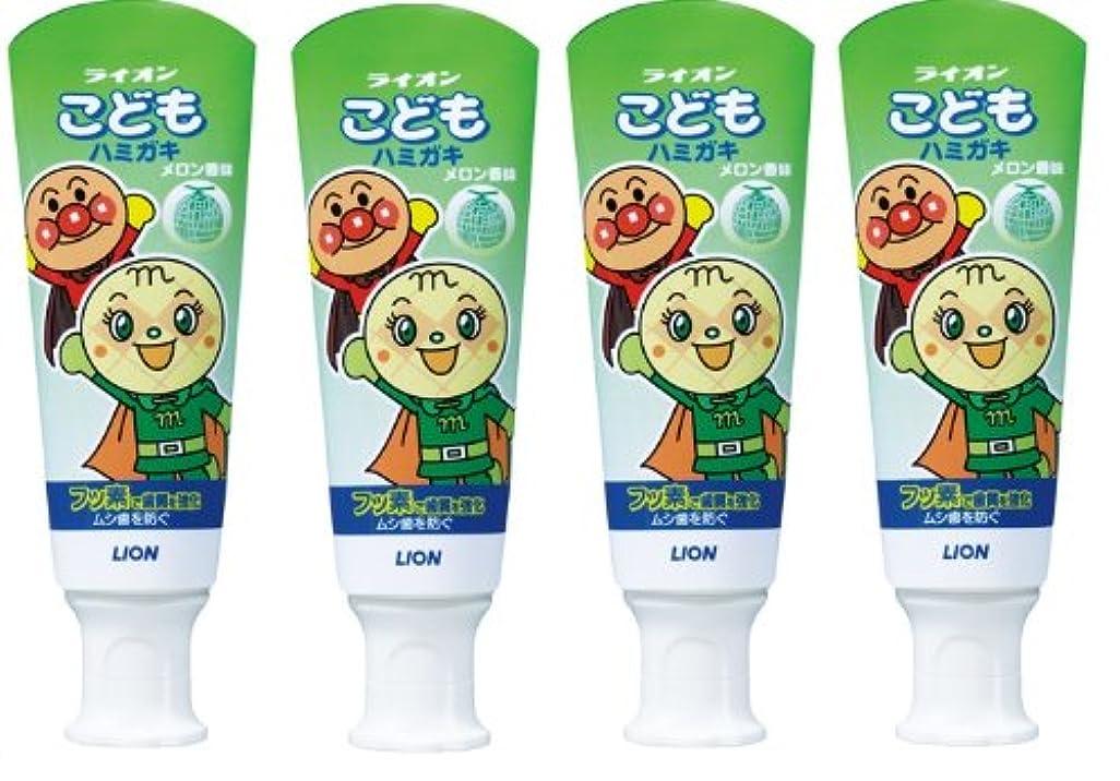 対処する負排泄するこどもハミガキ アンパンマン メロン香味 40g×4個パック (医薬部外品)