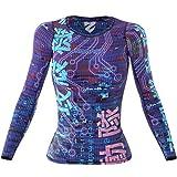 SMMASH Ghost Sportiva Magliette Donna Manica Lunga, Yoga, Crossfit, Camicia Funzionale Top da Palestra, Gym Home, Materiale Antibatterico, Prodotto nell'Unione Europea (S)