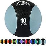 Balón medicinal 1 - 10 kg - calidad de gimnasio profesional con póster de ejercicios, medicinal