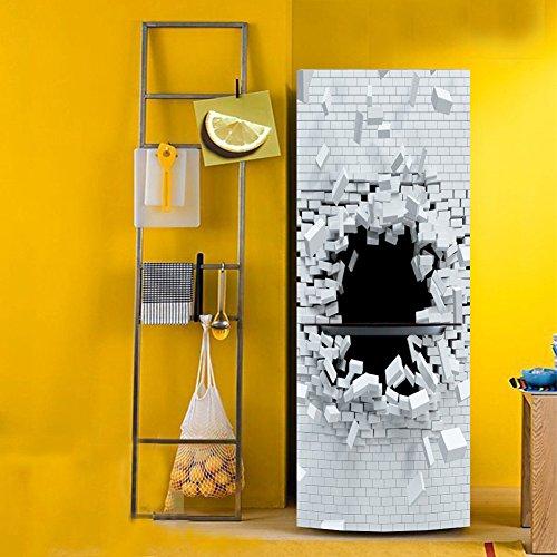 WW 3D Engomada Refrigerador Impermeable Pegatina Autoadhesivo Desmontable DIY Puerta Guardarropa Casa…