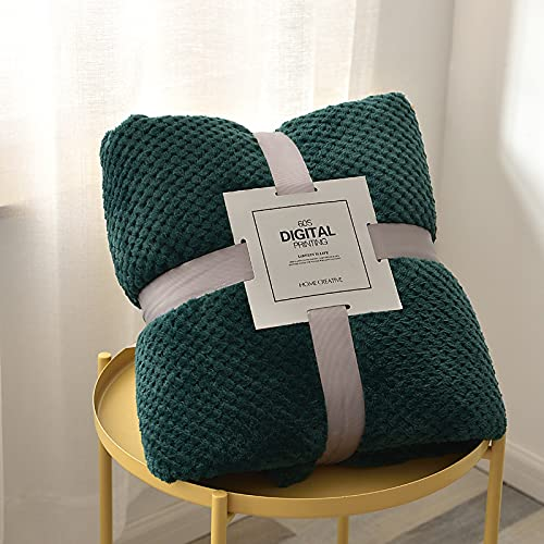 KLily Manta De Celosía De Piña De Color Sólido Engrosada, Manta De Sofá para El Hogar, Manta De Oficina De Lana De Coral, Lavable