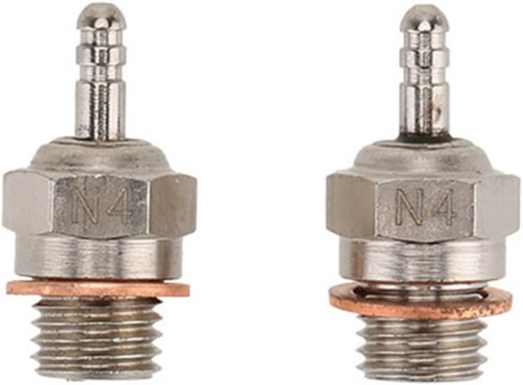 Parts Accessories 2Pcs Challenge the lowest price of Japan Free shipping anywhere in the nation 70117 N4 Spark Plug Glow Metal for